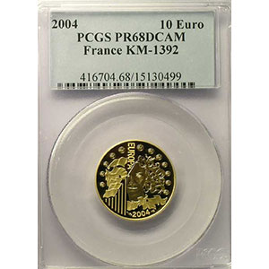 10 €   2004   or    PCGS-PR68DCAM    BE