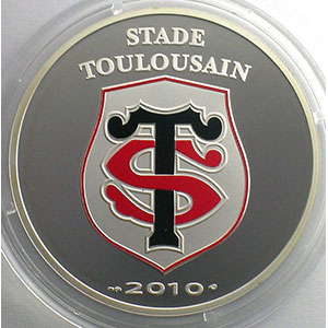 10 €   Stade Toulousain   2010   37mm   22,2 g - Ag 900 mill.    BE