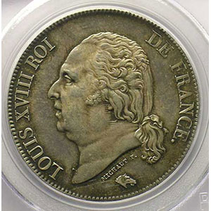 1824 A  (Paris)    PCGS-MS62    SUP/FDC