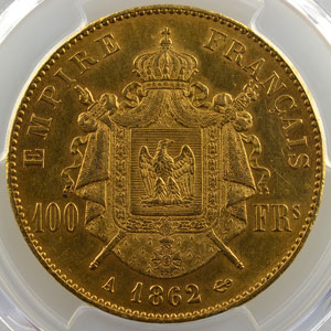 1862 A  (Paris)    PCGS-MS61    SUP+