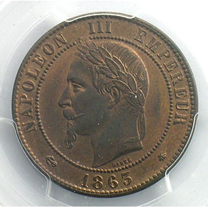 1863 A  (Paris)    PCGS-MS63RB    SUP/FDC