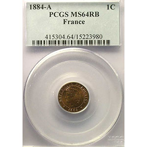 1884 A  (Paris)    PCGS-MS64RB    pr.FDC