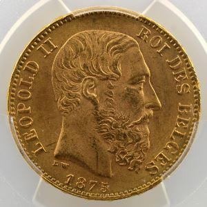20 Francs   1875    PCGS-MS65    FDC