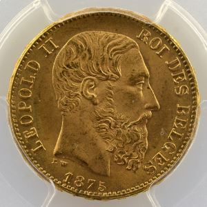 20 Francs   1875    PCGS-MS66    FDC