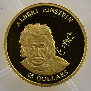 25 Dollars   2001   Albert Einstein    BE