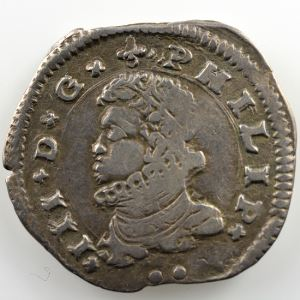 3 Tari   Philippe III  (1598-1621)   1612 DF A  (Messine)    TB+