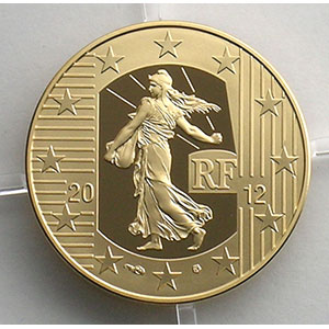 50 €   2012   10° anniversaire de l'introduction de l'Euro    BE